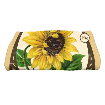 Swan Valley Sunflower Bath Towel Color: Gold