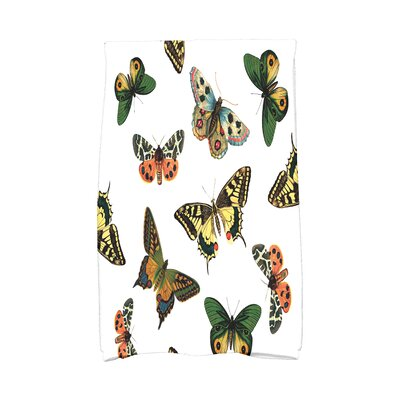 Swan Valley Butterflies Wildlife Print Hand Towel Color: White