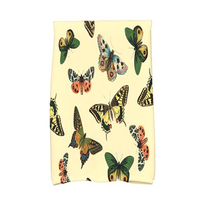 Swan Valley Butterflies Wildlife Print Hand Towel Color: Yellow