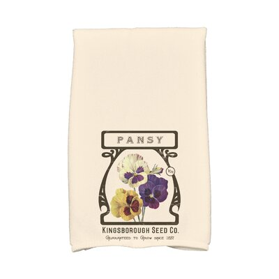Swan Valley Pansy Hand Towel Color: Cream/Ivory