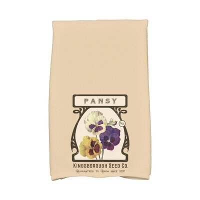 Swan Valley Pansy Hand Towel Color: Beige/Taupe