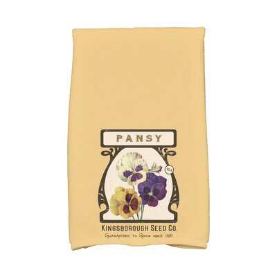 Swan Valley Pansy Hand Towel Color: Gold