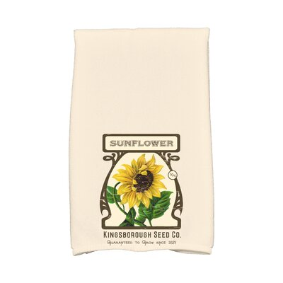 Swan Valley Sunflower Hand Towel Color: Cream/Ivory
