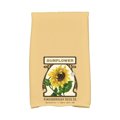 Swan Valley Sunflower Hand Towel Color: Gold