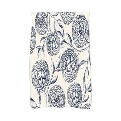 Swan Valley Antique Flowers Hand Towel Color: Navy Blue