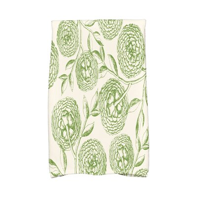 Jud Antique Flowers Hand Towel Color: Green