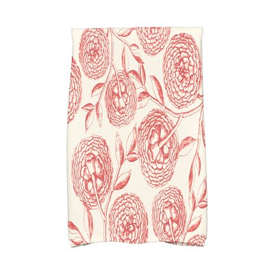 Swan Valley Antique Flowers Hand Towel Color: Coral