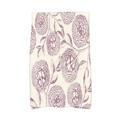 Swan Valley Antique Flowers Hand Towel Color: Purple