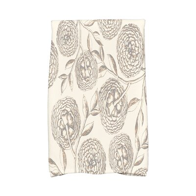 Jud Antique Flowers Hand Towel Color: Beige/Taupe