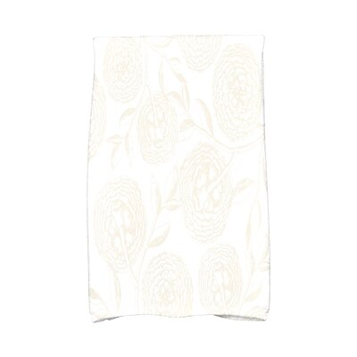 Jud Antique Flowers Hand Towel Color: White