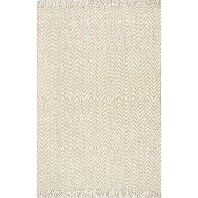 Delincourt Boucle Printed Natural Area Rug Rug Size: 5 x 8