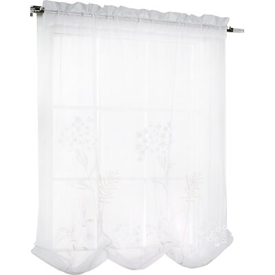 Irenee Adjustable Window Tie-Up Shade Color: White