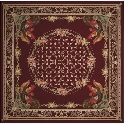 Avion Handmade Burgundy Area Rug