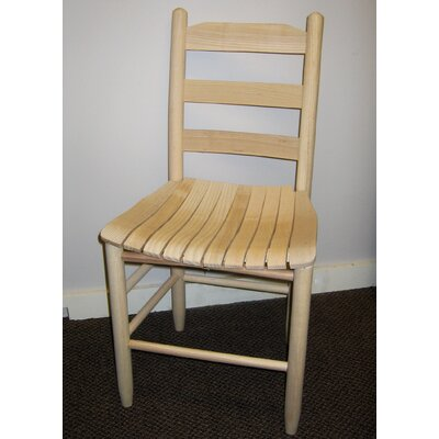 Janelle Wrightsville Adult Ladder Back Side Chair Color: Unfinished