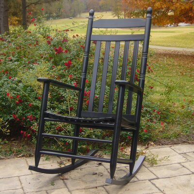 Janelle Asheville Rocking Chairs Finish: Black