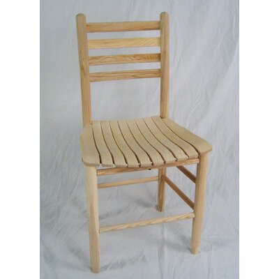 Adult Slat Seat Side Chair Finish: Unfinished