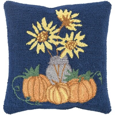 Allentown Sunflowers Pillow Cover Color: Blue