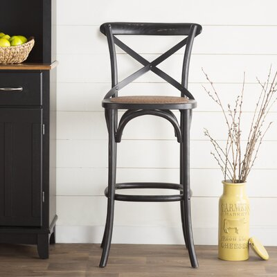 Essie 30.7 Bar Stool Frame Finish: Black