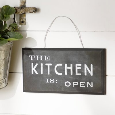 The Kitchen is Open Textual Art Plaque Graphic Art