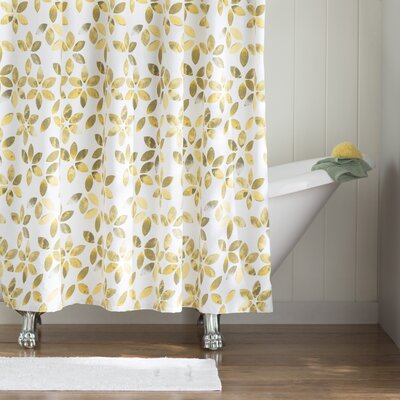 Autumn Cotton Shower Curtain Color: Gray/Yellow