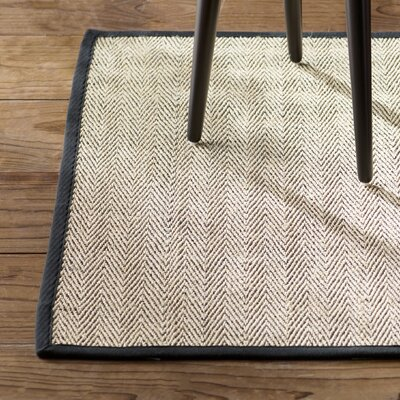 Genevieve Black/Beige Area Rug Rug Size: Rectangle 2 x 3