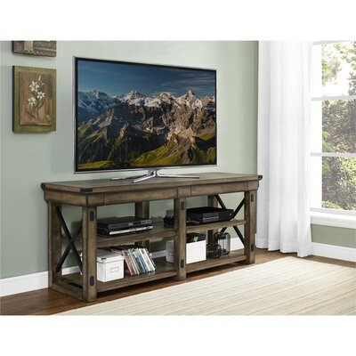 Glane Wildwood Wood Veneer 65 TV Stand Color: Rustic Gray