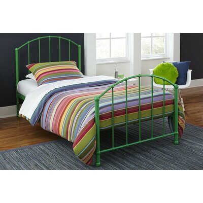 Eleanore Twin Platform Bed Color: Green