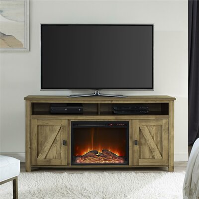 Cleveland 60 TV Stand with Fireplace Finish: Heritage Light Pine