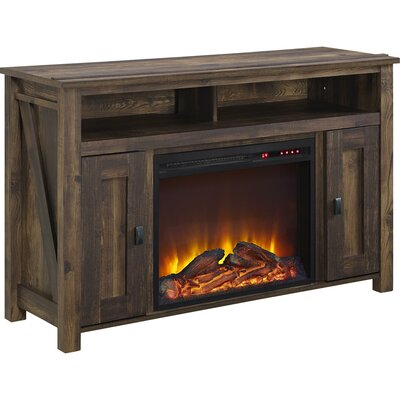 Gilby TV Stand with Electric Fireplace Finish: Heritage Pine