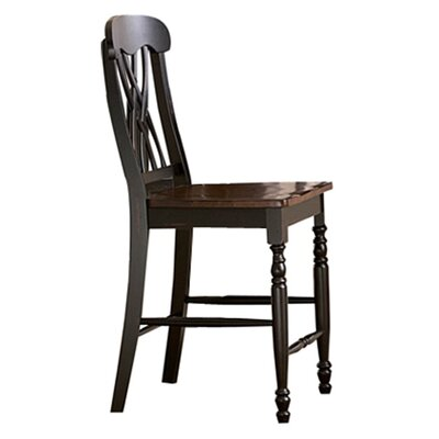 Frona 24 inch Bar Stool (Set of 2) Finish: Antique Black