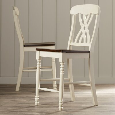 Sisson 24 Bar Stool (Set of 2) Finish: Antique White