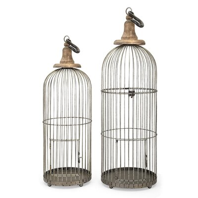 2 Piece Lenore Bird Cage Set