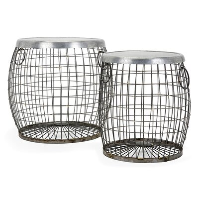 2 Piece Balaz Wire End Table Set