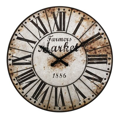 47 Farmers Market Oversized Wall Clock