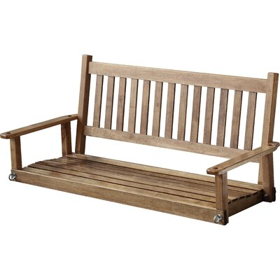 Franklin Springs Porch Swing Finish: Black, Size: 5