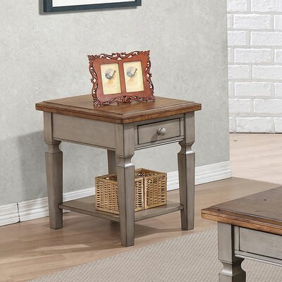 Murtaugh End Table With Storage