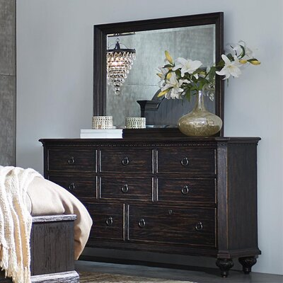 Rafeala 8 Drawer Dresser with Mirror
