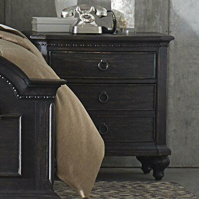 Rafeala 3 Drawer Nightstand
