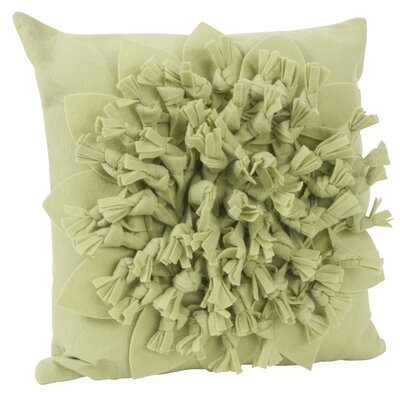 Montrose Felt Throw Pillow Color: Lime
