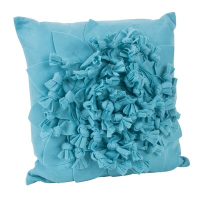 Montrose Felt Throw Pillow Color: Aqua