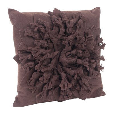 Montrose Felt Throw Pillow Color: Chocolate