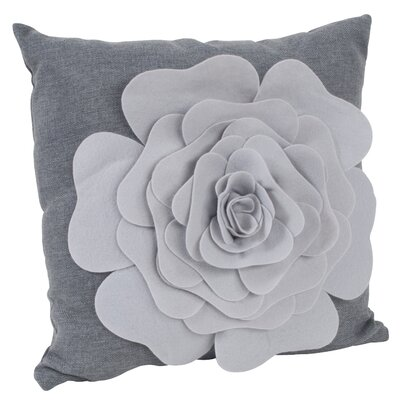 Montrose Throw Pillow Color: Grey