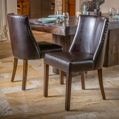 Cottonwood Genuine Leather Upholstered Dining Chair