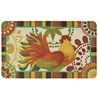 Cowley Painted Spice Rooster Dri-Pro Comfort Kitchen Mat