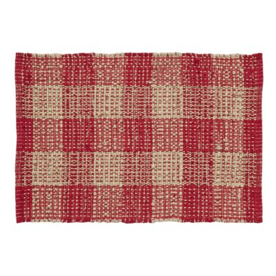 Collins Red / Tan Area Rug Rug Size: 23 x 4