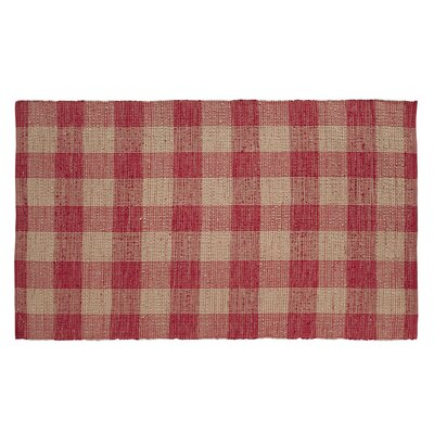 Collins Red / Tan Area Rug Rug Size: 5 x 8