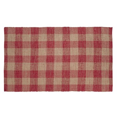 Collins Red / Tan Area Rug Rug Size: 6 x 9