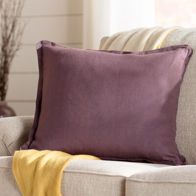 Meghan Throw Pillow Color: Eggplant, Filler: Polyester