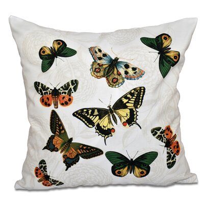Swan Valley Bird Watch Animal Print Outdoor Throw Pillow Size: 18 H x 18 W, Color: White