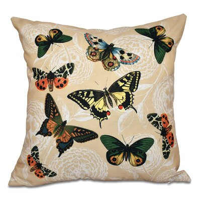 Swan Valley Bird Watch Animal Print Outdoor Throw Pillow Size: 18 H x 18 W, Color: Cream